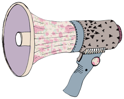 megaphone illustration