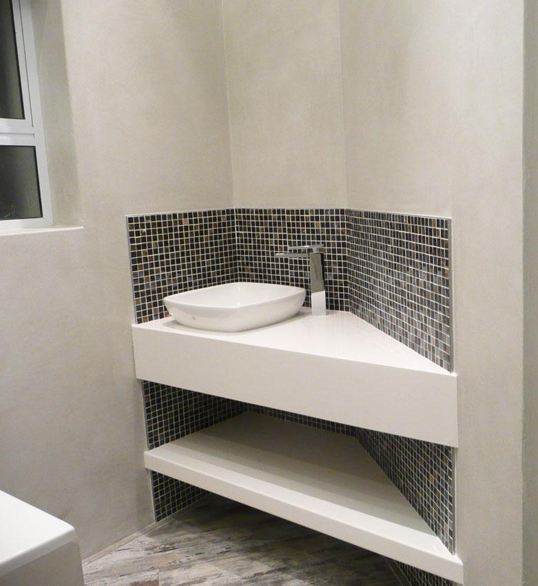 bathroom basin vanity solution to this awkwardly shaped corner